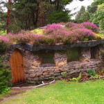 In the Findhorn garden, Scotland