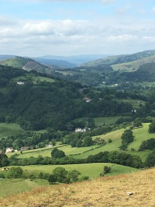 From Castle Hill, llangollen